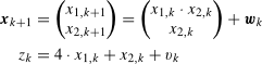 equations describing the discrete system
